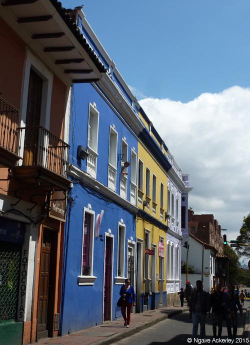 Colourful houses in Bogota