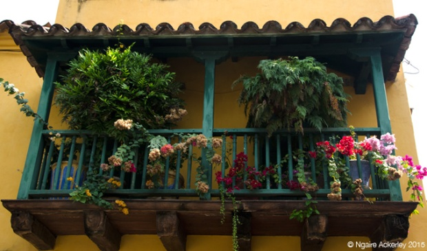 Colourful buildings in Cartagena