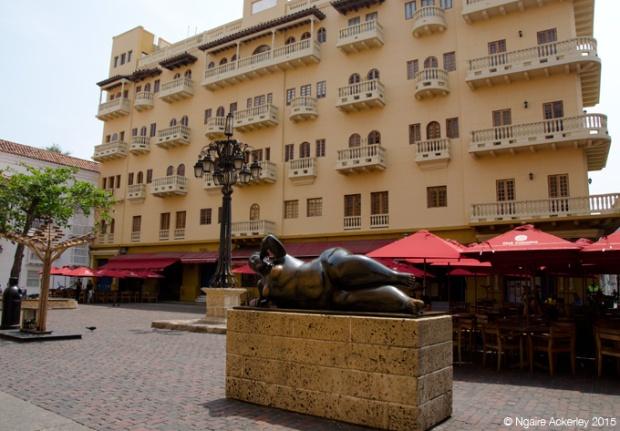 Plaza with Botero Sculpture, Cartagena
