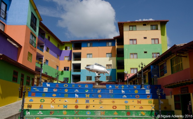 Colourful buildings in Guatape