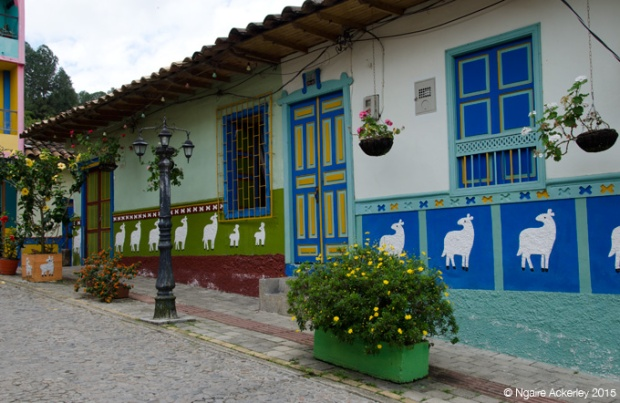 Colourful houses in Guatape