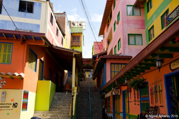 Colourful stores in Guatape