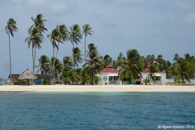 Immigration island in the San Blas