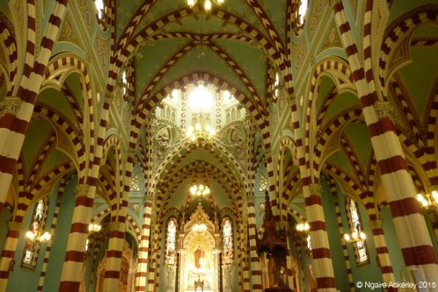 Inside Santurio Nuestra Senora del Carmen, Bogota