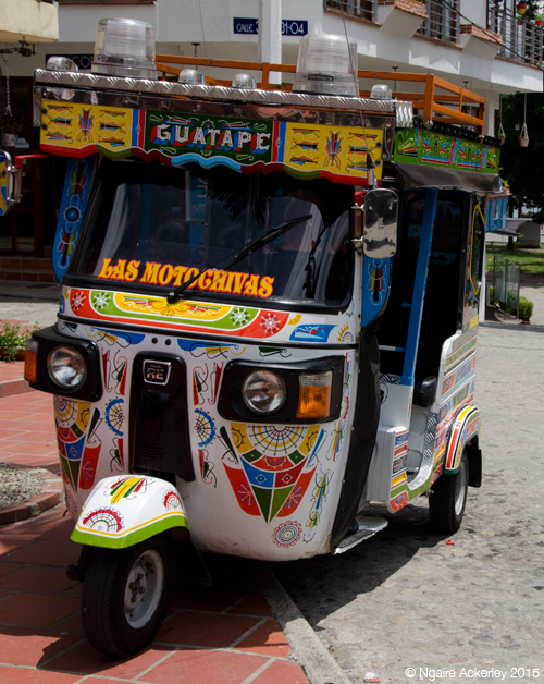 Motor taxi in Guatape