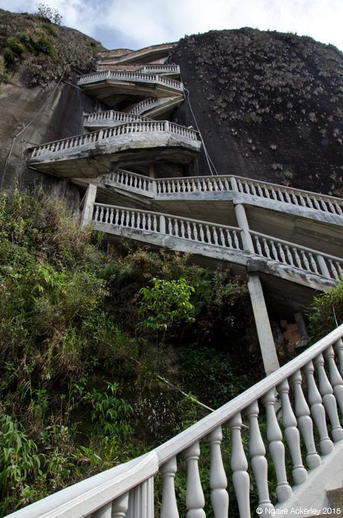 Stairs up La Piedra del Penol, Guatape