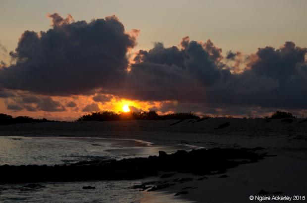 Sunrise at Bachas Beach, Baltra