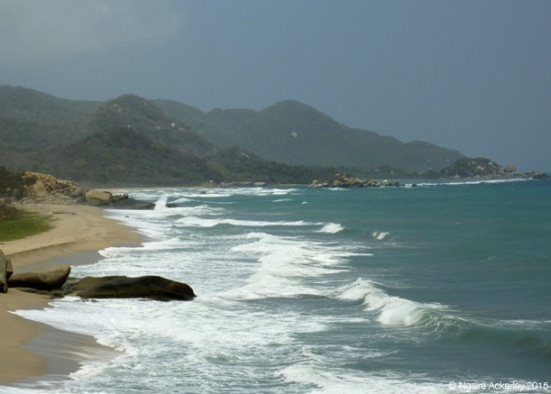 One of the beaches at Tayrona National Park