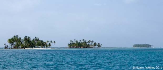 Three of the 365 islands in the San Blas