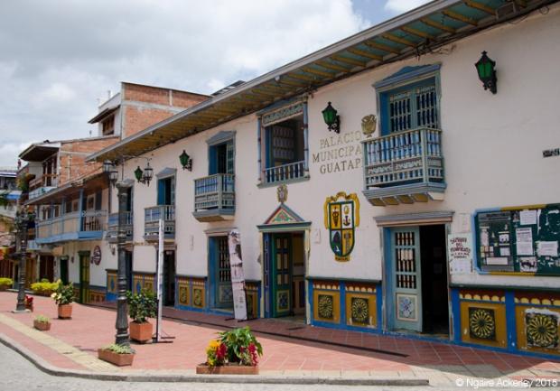 Guatape town square
