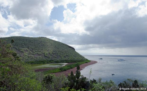 View from top of Rabida Island