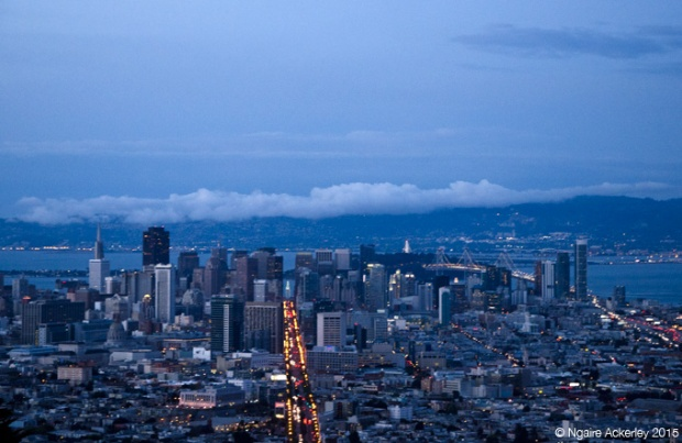View over San Francisco at night from Twin Peaks