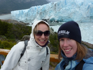 My Dutch friend Eveline and I in Patagonia