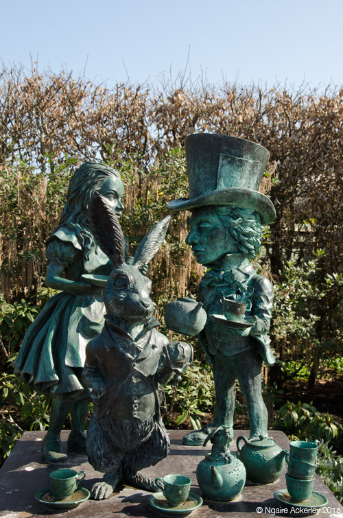 Alice in Wonderland Sculpture