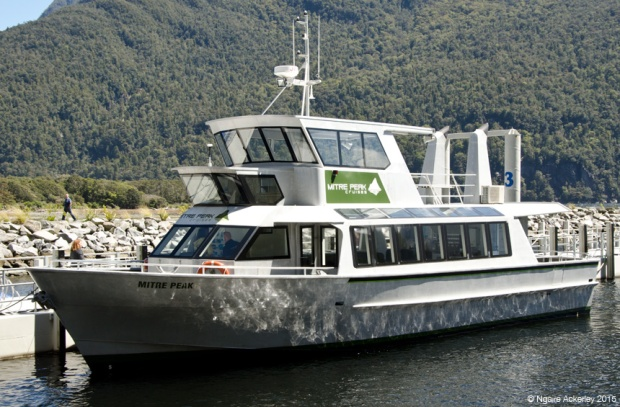Our boat for the Milford Sound cruise