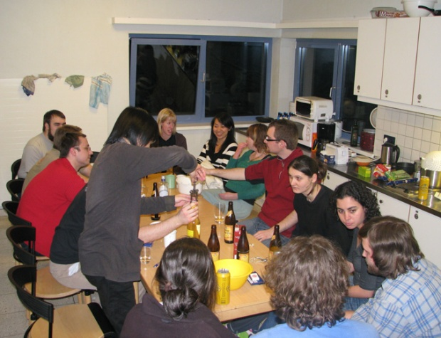 Dinner with the International Students - we made hamburgers and kiwi crumble...
