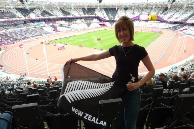 At the Olympic stadium awaiting an Athletics final!