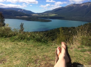 Relaxing by Nelson Lakes