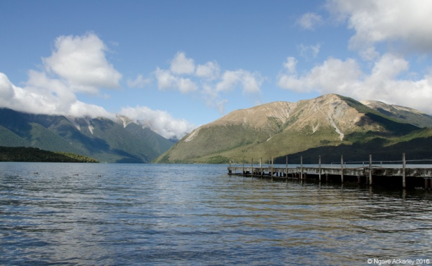 Jetty across Nelson Lakes