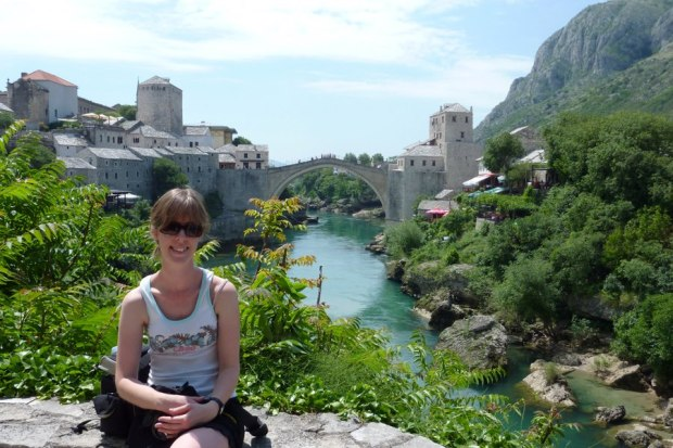 Chilling by the river n Mostar