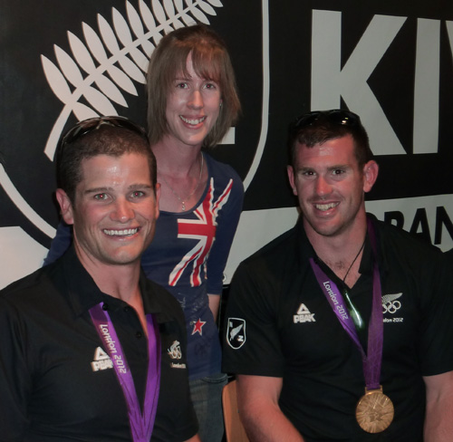 Kiwi House meet and greet - me with Nathan Cohen and Joseph Sullivan
