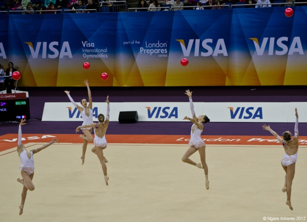 London Prepares Rhythmic Gymnastics - Group Ball