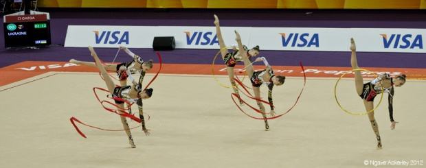 London Prepares Rhythmic Gymnastics - Group Ribbon
