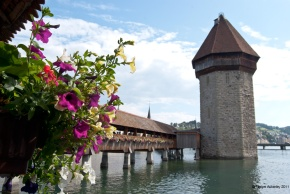 Bridge in Lucerne, Switzerland