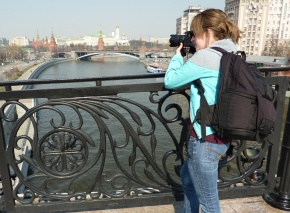 Me with my camera in Russia