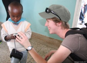 Budding photographer at Sadia Orphanage, Kenya