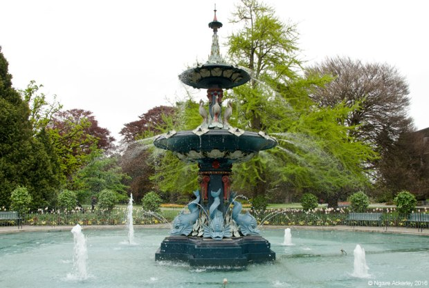 Fountain at Christchurch Botanic Gardens