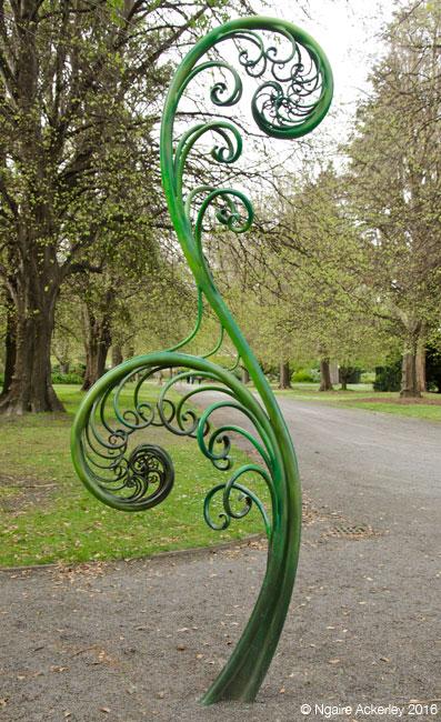 Fern sculpture, Botanic Gardens