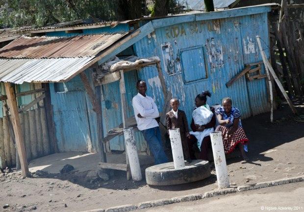 People on the roadside, Kenya