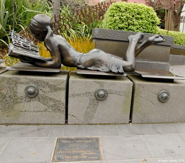 'Inner Struggle' sculpture in Christchurch