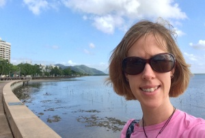 Checking out the Esplanade walkway, Cairns