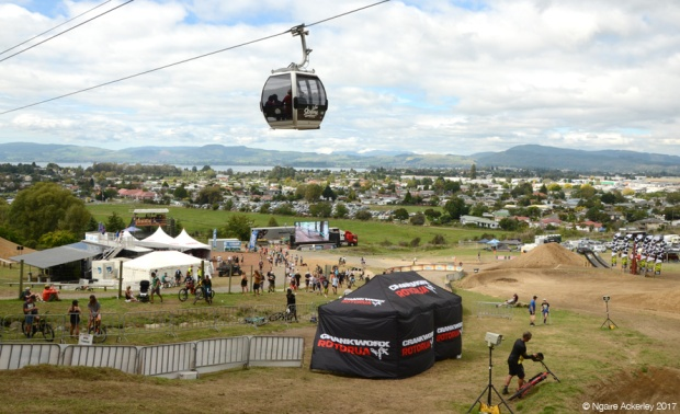 Crankworx grounds at Skyline Rotorua