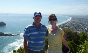 Me and my Dad at the top of Mt. Maunganui