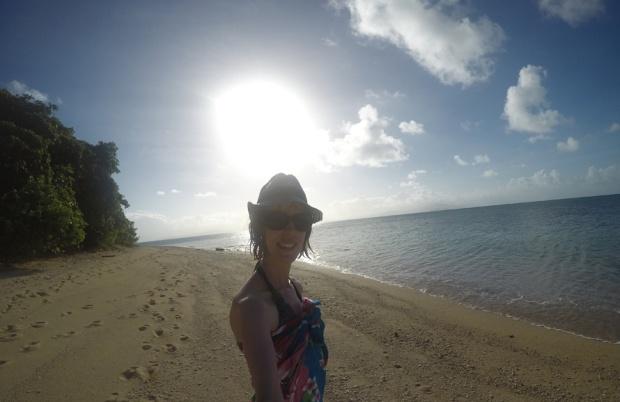 Me enjoying the golden sand beaches