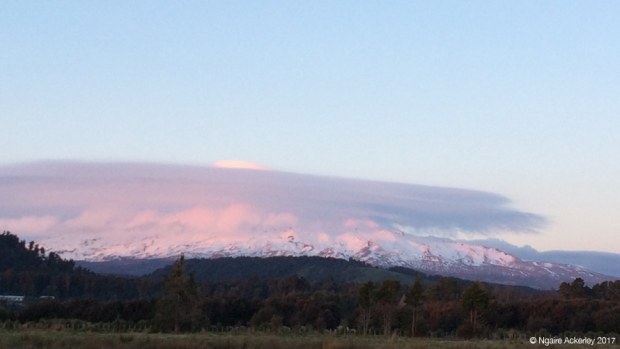 Mt. Ruapehu at dusk
