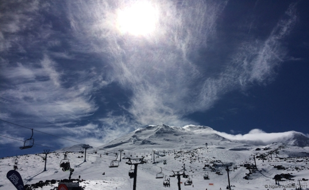 View up Turora skifield
