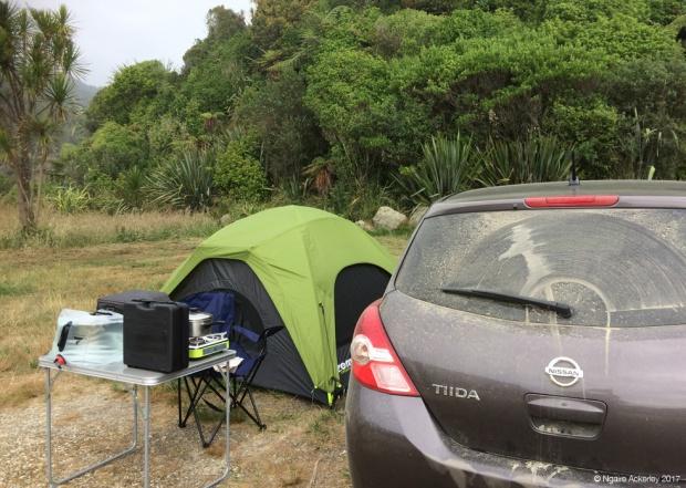 My campsite for the night - Kahurangi National Park