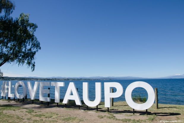 Taupo, the big lake in the middle of NZ's North Island