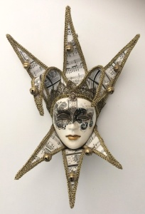 A mask from Venice, packed away for 11 years.