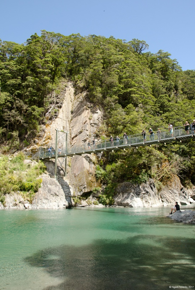 Bridge at the Blue Pools, New Zealand