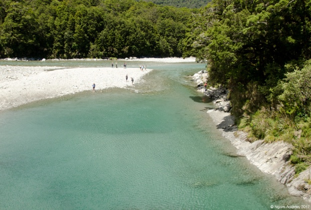 Inlet to the Blue Pools, New Zealand