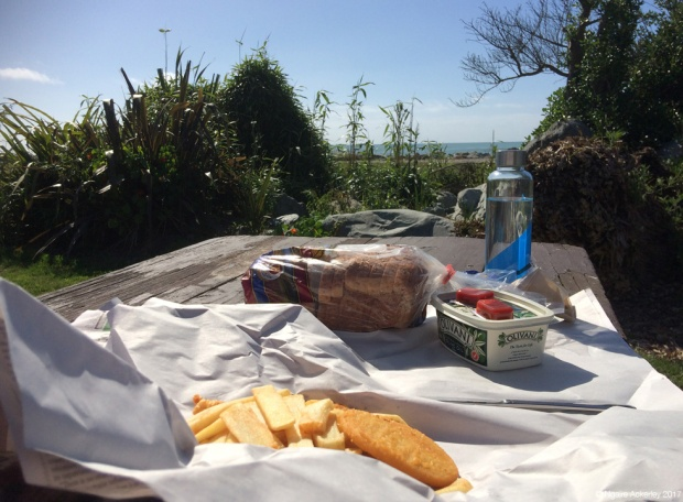 Fish n' chips by the beach - Hokitika
