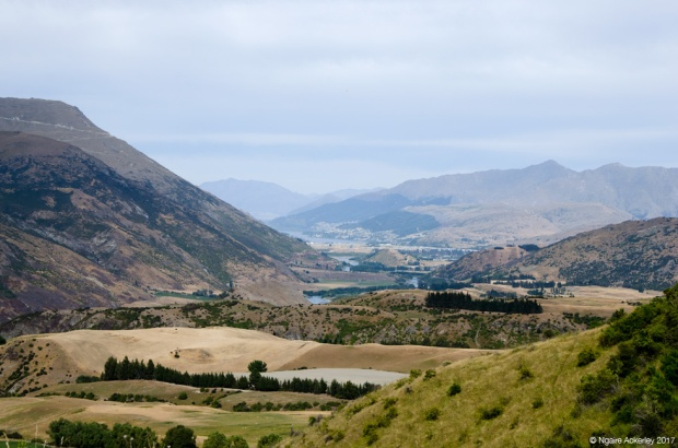 View from the Crown Range to Queenstown