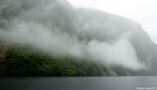 Clouds in moody Doubtful Sound