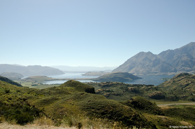 View from Rocky Mountain over Lake Wanaka