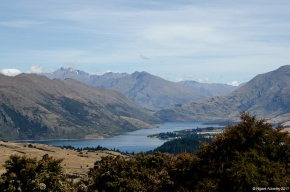 View of Lake Hawea from Mount Iron, Wanaka